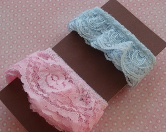 Vintage Pink and Blue Lace