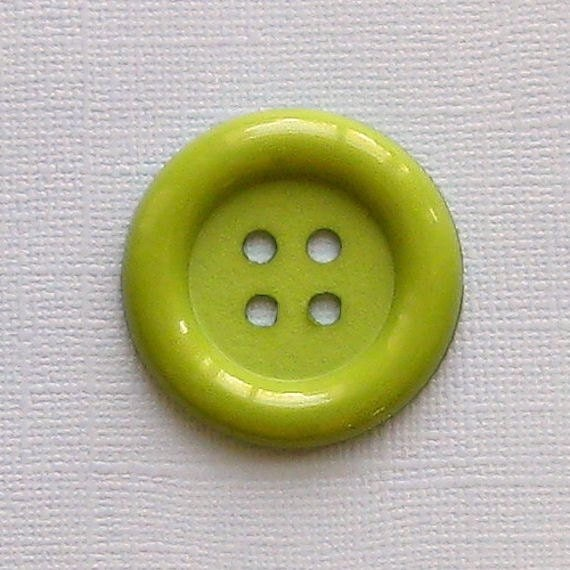 4 Jumbo Buttons 1.5 inches Olive Green Color BUT131