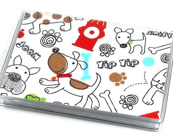 Card Case Mini Wallet Fire Hydrant Dogs