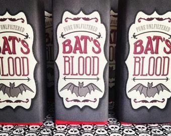 Halloween Bat's Blood Juice Box Wrap