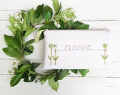 Unique Wedding Clutch, Personalized Bridesmaid Gift, Pastel Spring Wedding Purse, Bridesmaid Clutch, Green and Cream MADE TO ORDER