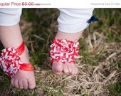 50% OFF Entire Shop - Red Baby Sandals - Baby Barefoot Sandals - Elastic Sandals - Barefoot Sandals