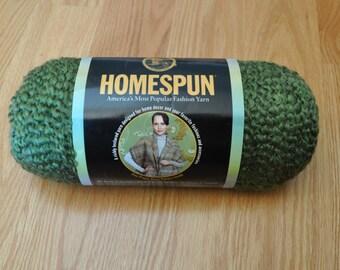 1 Skein Lion Brand Homespun Olive Yarn
