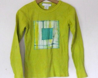Chartreuse Tshirt Childs' S TieDye Cotton