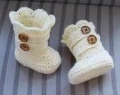 Crochet Baby Pattern, Crochet  Baby Boots Pattern, Classic Snow Boots , 4 Sizes  pdf pattern