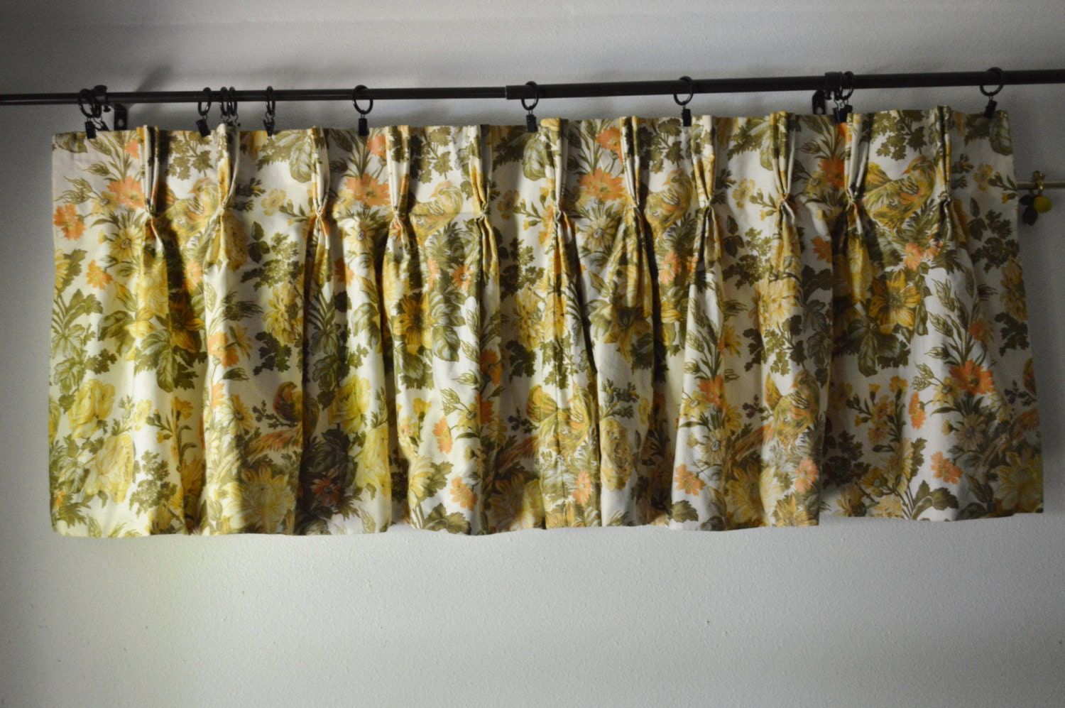 Vintage Curtains 1960s Waverly Fabric Custom Made By