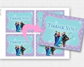 Frozen - Thank You Card - PRINTABLE