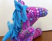 Stuffed Polka Dot Plush Pegasus Stuffed Animal Divine Horse Stuffed Toy