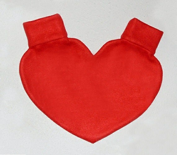 Red Heart Mitten Snuggle down for warm romantic walks