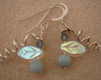 Drop Bead and Wire earrings