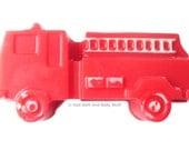 FIRE TRUCK Soap Bar Handmade Novelty 3.5 oz Fireman Rescue U Pick Scent & Color