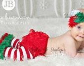 Christmas leg warmers , baby leg warmers, girls legwarmers,Ruffled  striped Christmas legwarmers. leg warmers,toddler leg warmers.