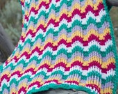 Crochet Pattern: Reversible Textured Chevron Afghan