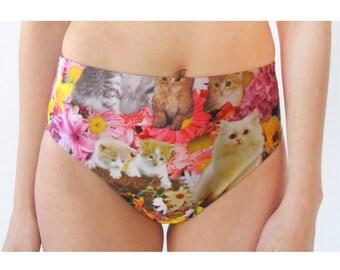 Kitty Garden Party High Waist Swim Bottom