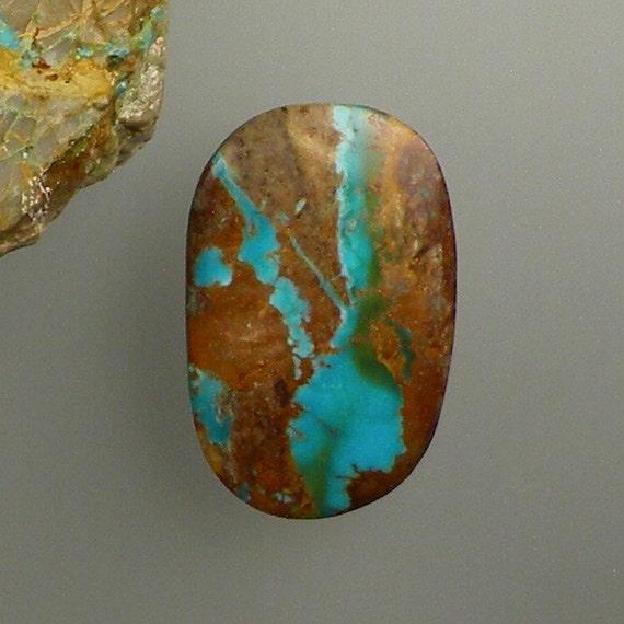 Royston ribbon turquoise hand cut cabochon from nevada free for Royston ribbon turquoise jewelry