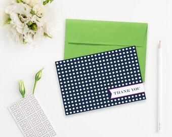 Polka Dots Thank You Notes - Set of 6