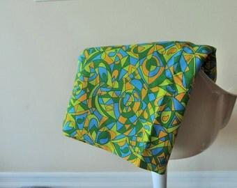 Vintage Geometric Pattern Fabric, Home Decor Fabric,Retro