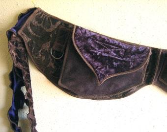 Festival Pocket belt, Purple Royalty, Utility Belt, Burning man, Burlesque, Renaissance, Fanny pack, Hip bag, By Sandalamoon on Etsy