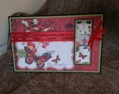 Red Butterfly Happy Birthday Card