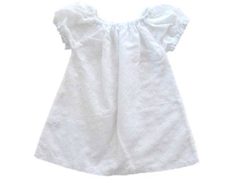 Baby White Dress, Peasant Dress