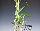 Delightful Wrought or Rod IrRON ROCKING CHAIR Potted Plant Holder, circa 1930's - 1940's