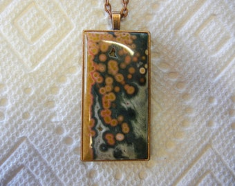 Old stock Ocean Jasper Cabochon Necklace