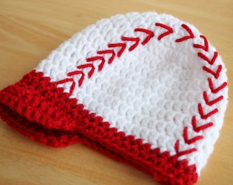 Adult Baseball Cap, Adult baseball hat, crochet baseball hat, crochet hat with brim, baseball newsboy