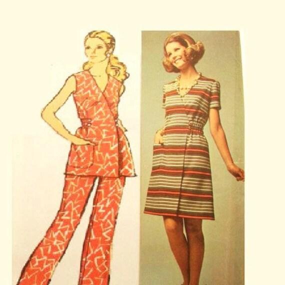 Vintage Wrap Around Dress Pattern Uncut Size 16 Bust 38