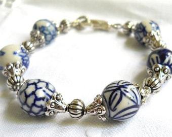 delft blue bracelet delft blue style jewelry Delft blue bracelet blue and white delft bracelet blue and white bracelet