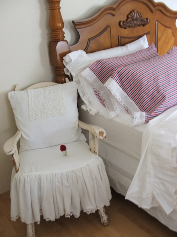 Shabby Chic Woodrose Pillowcases : Items similar to shabby chic pillowcases on Etsy