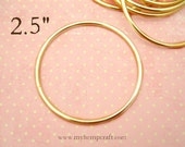 "Craft Ring, 2.5"" Dream Catcher Metal Hoop Ring, Brass"