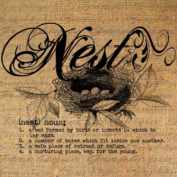 Items similar to Definition NEST Text Typography Words Digital Image Download Sheet Transfer To ...
