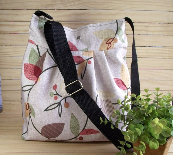 Crossbody Diaper Bag Messenger Bag Floral Shoulder Bag School Teacher Bag Travel bag Canvas Weekender Bag LILIA VANINI BAGS