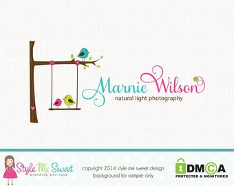 Bird logo design swing logo design tree logo design graphic design premade logo design bespoke logo design photography logo branding logo