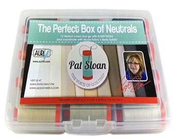 Aurifil Perfect Box of Neutrals Thread Collection by  Pat Sloan Aurifil thread  PSNB5012 50 wt cotton Mako 12 Large spools