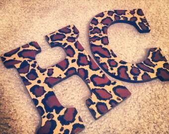 Leopard Print Letters
