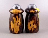 Salt and Pepper Shakers - Handmade Desert Ironwood with chrome caps