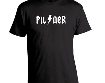 Funny Beer Shirt, Craft Beer Shirt, Rock Band Parody Shirt, Pilsner Unisex Homebrew Shirt, Craft Beer Brewing, Beer Festival, Homebrewer