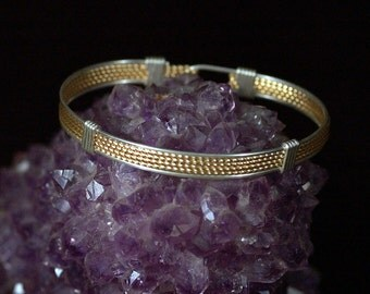 Classic  Mesh  Bracelet , a mix of Sterling and 12k Gold Fill wire