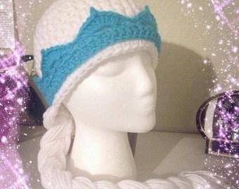 Elsa from Frozen inspired wig hat