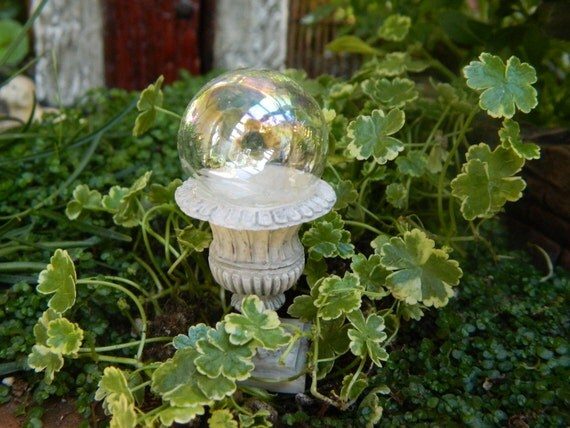 Miniature Gazing Ball Fairy garden gazing ball woodland