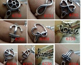 10pcs 20mm (inner 17.5mm)   Mixed Antique Silver Alloy  Rings Pendant Charms c6750-6759