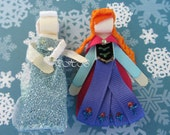 Princess Elsa and Anna from Frozen Princess Hair Clip Set # 1 Inspired by Disney Birthdays, Baby Showers, Party favor