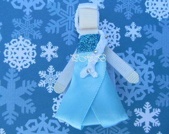 Princess Elsa from Frozen Princess Hair Clip # 2 Inspired by Disney- Birthdays, Baby Showers, Party favor