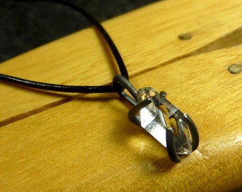 Herkimer Diamond Necklace with oxidized sterling silver