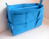 Taller Large size Purse organizer - Bag organizer insert in Blue