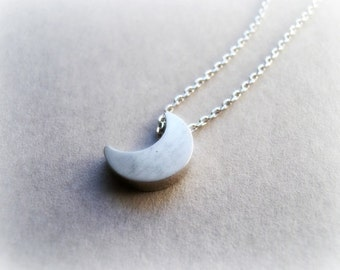 Tiny Crescent Moon Sterling Silver Necklace - Sterling silver Crescent Moon necklace - Moon Necklace - Crescent Moon necklace 925