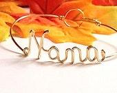 "Dainty  ""Nana"" bracelet. Nana Gift. Nana Bracelet. Nana Jewelry.Nona Nonnie Nanna Granny Mimi Mothers day gift"