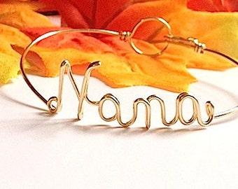 "Dainty  ""Nana"" bracelet. Nana Gift. Nana Bracelet. Nana Jewelry.Nona Nonnie Nanna Granny Mimi Yaya Bracelet. Gifts under 20"