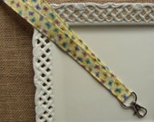 Fabric Lanyard  - Beautiful Butterflies on Yellow